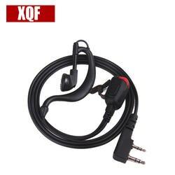 XQF 2 Булавки с лампой крючком динамик черный для Kenwood TK3207 Baofeng UV5R TYT Wouxun Puxing Двухканальные рации серии