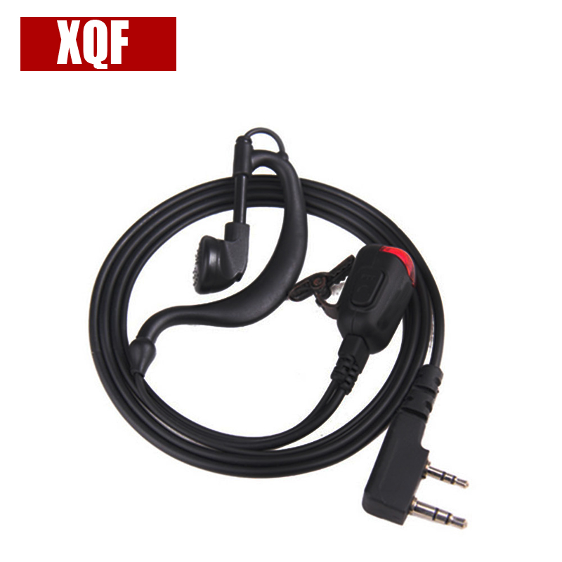 Cellphones & Telecommunications Intellective Xqf 2 Pin With Lamp Earhook Earpiece Black For Kenwood Tk3207 Baofeng Uv5r Tyt Wouxun Puxing Walkie Talkie Series To Help Digest Greasy Food