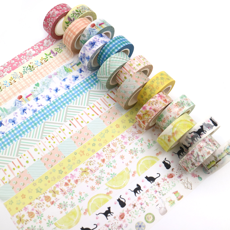 Creative Kawaii Masking Tape Cute Washi Tape Decorative Adhesive Tape Kids DIY Scrapbooking Diary Photos Albums Office Supply