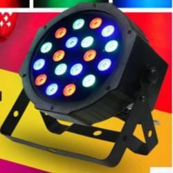 AC90-240V светодио дный 18 LED RGB сценический свет Par Свет Звук Активированный автоматический запуск проектор DJ свет вечерние вечеринки DJ шоу KTV