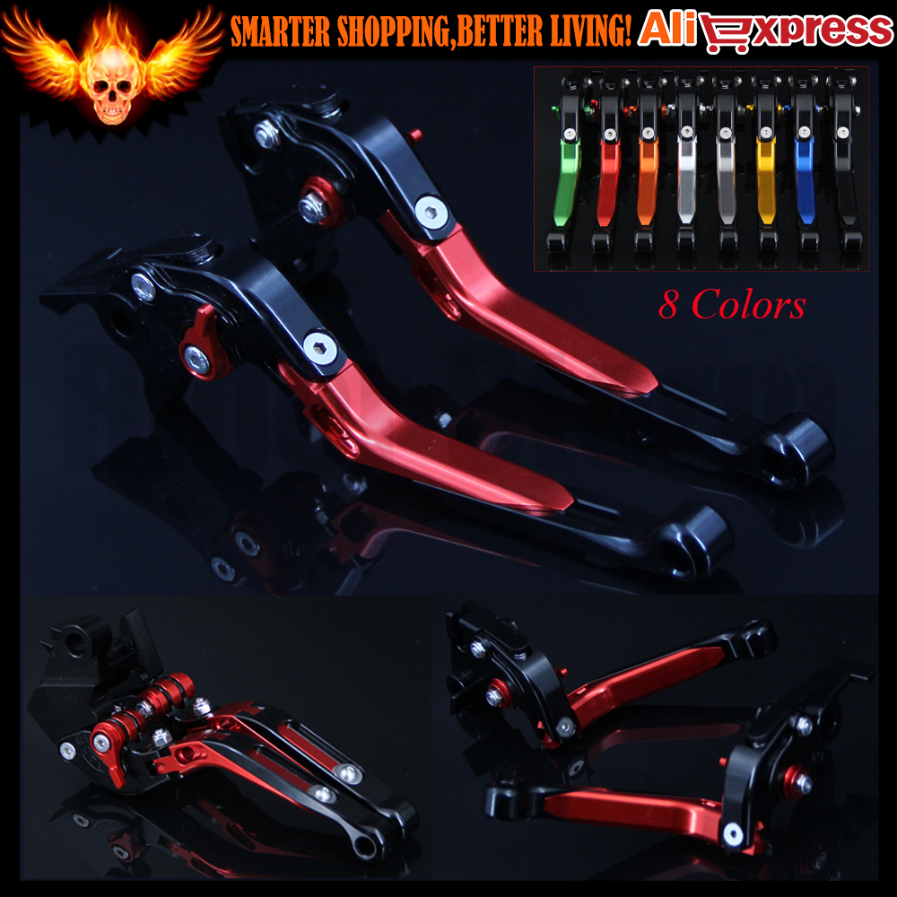 New Red Adjustable(Folding&Extendable)CNC Motorcycle Brake Clutch Levers For Honda VFR 1200/F 2010-2016 2011 2012 2013 2014 2015 billet alu folding adjustable brake clutch levers for motoguzzi griso 850 breva 1100 norge 1200 06 2013 07 08 1200 sport stelvio