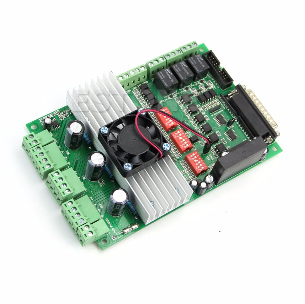 New CNC 3 axis TB6600 Stepper Motor Driver Board 4.5A/36V For Engraving Machine new high quality cnc 3 axis tb6560 stepper motor driver board control pad lcd set hy tb3 kh
