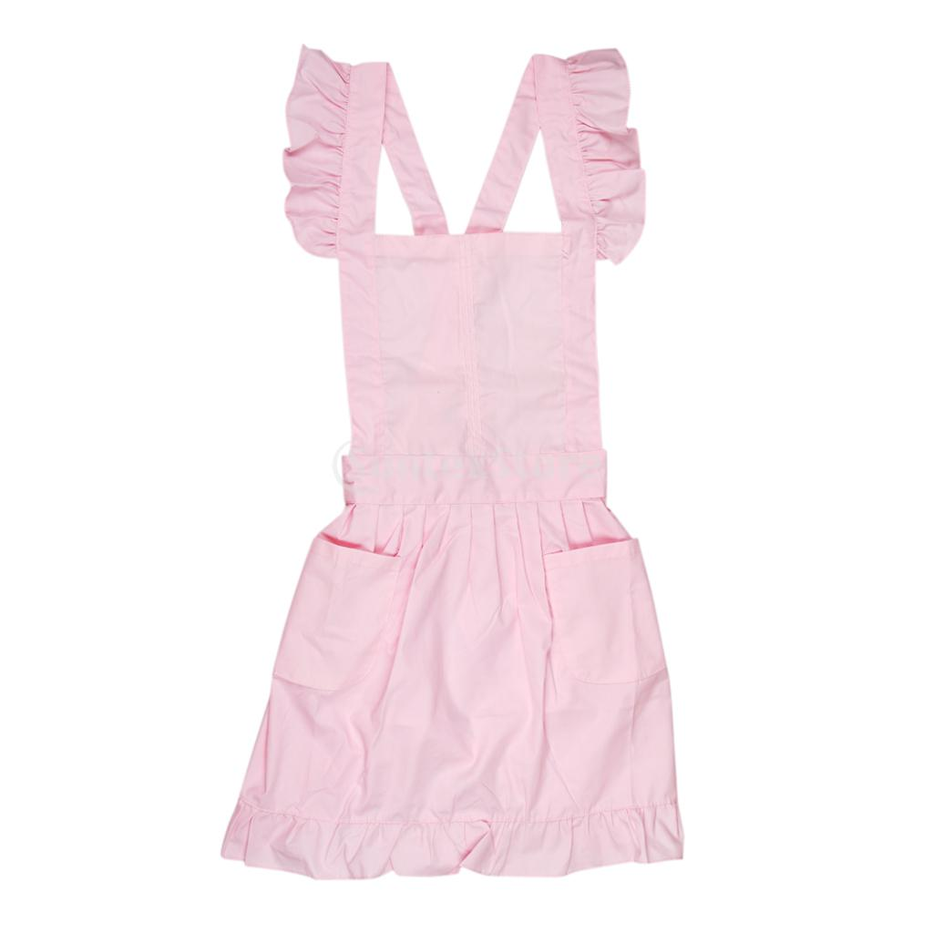 White pinafore apron costume - Victorian Style Pinafore Apron Maid Smock Costume Dress Ruffle Pockets Pink White In Aprons From Home Garden On Aliexpress Com Alibaba Group