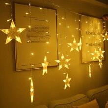 90 светодиодов, Звездные сказочные огни, рождественские Звездные гирлянды, гирлянды, светодиодные занавески для свадьбы/дома/вечерние/сада/дня рождения, Декор