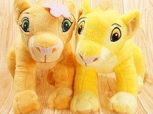 Free shipping  The Lion King Plush Simba and Nala Set ' plush toy stuffed doll for christmas gift