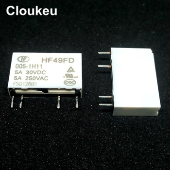 100Pcs Relay DIP4 HF49FD-005-1H11 HF49FD-012-1H11 HF49FD-024-1H11 5V 12V 24V 5A