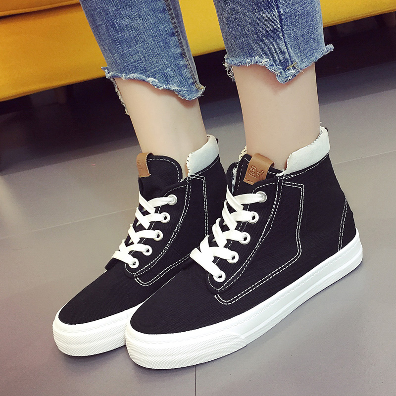 black White Schuhe Marke Frau Frauen Vulkanisierte Kse183 Beiläufige Atmungs Plus Flachen Weiblichen Kissyuer Elastische Vulkanisieren Größe Flache qaZtpUw