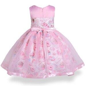Image 2 - Cielarko Princess Girls Dress Pink Birthday Wedding Party Baby Dresses Fancy Candy Cupcake Children Frocks for 2 10 Years Girl