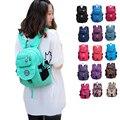 Jinqiaoer 2016 nova moda das mulheres sacos de escola bagpack macio sólida estilo mochila de nylon impermeável mochila escolar 5681zl mujer