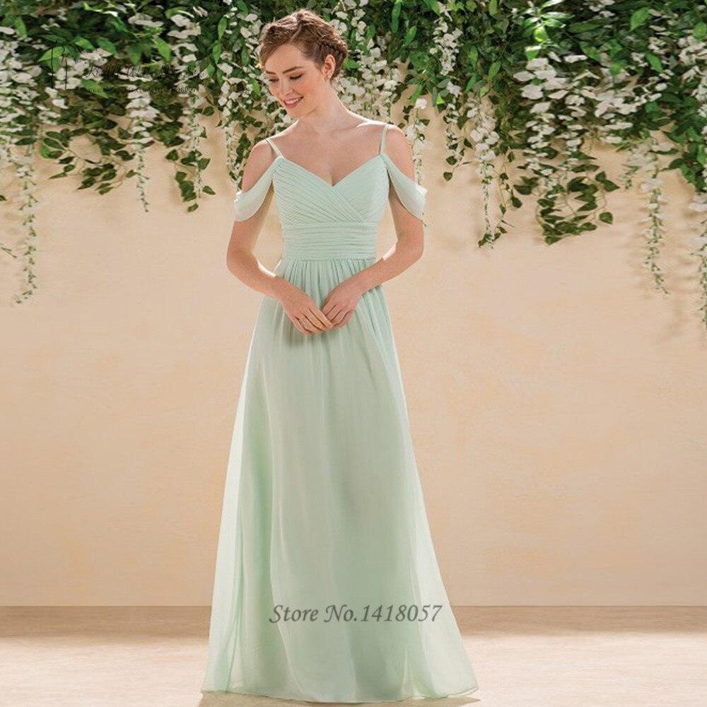 Vintage Country Mint Green   Bridesmaid     Dresses   Long Vestido de Festa de Casamento Cheap Wedding Party   Dress   2017 Floor Length