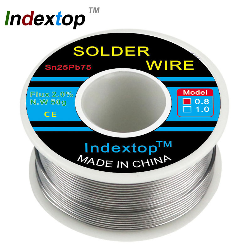 50g Solder Wire 0.8 1.0 1.2mm  63/37 Flux 2.0% 45FT Tin Lead Melt Rosin Core Welding Wire Roll Sn25Pb75 For Soldering Station