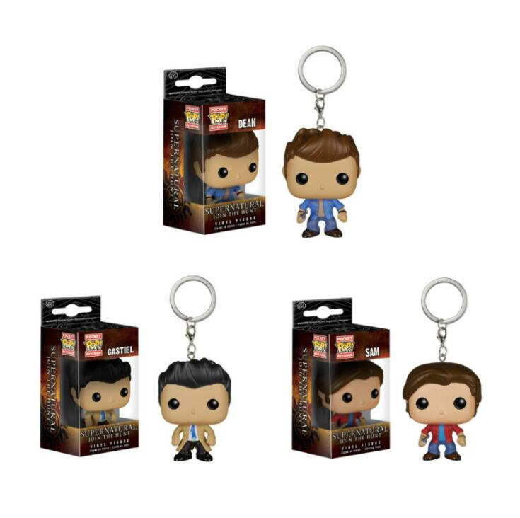 Funko Pop Supernatural Keychain Dean Castiel Sam Action Figure Toy