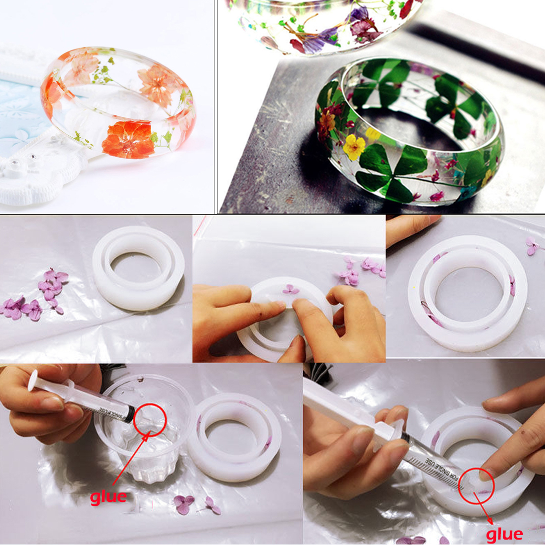 New Diy wide face Silicone Mould DIY Resin Bracelet Jewellery epoxy resin molds for Jewellery Free Shipping jewelry tools in Jewelry Tools Equipments from Jewelry Accessories