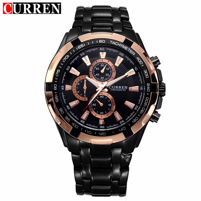 Горячая распродажа CURREN мужчины часы лучший бренд класса люкс мужчины военный наручные часы полный стали мужчины спортивные часы водонепро...
