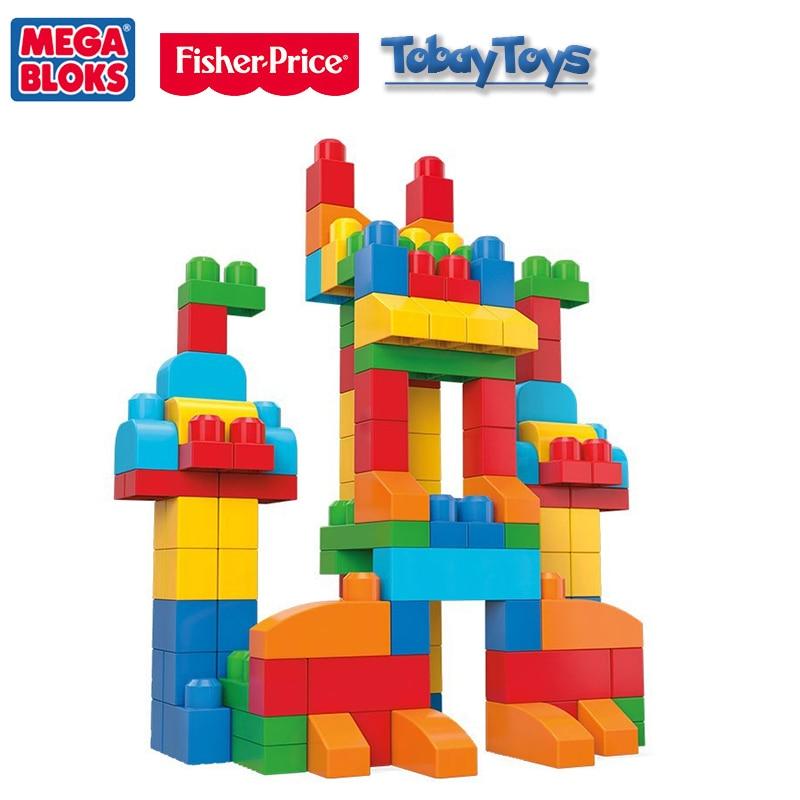Подлинная Марка Mega Bloks классическая игрушка серия First Builders детские строительные DIY игрушка CNM43 место я воображение для подарок на день рожден
