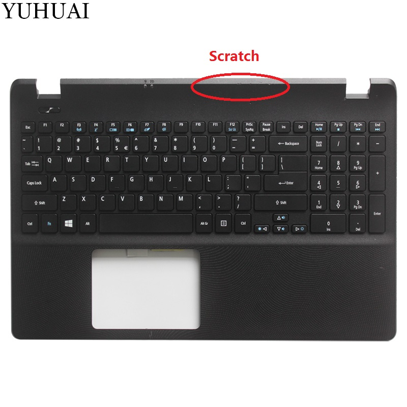 98% NEW US keyboard FOR Acer Aspire E15 ES1-512 Laptop Palmrest with US Keyboard new original laptop base lcd palmrest touchpad pour for acer aspire es1 es1 512 series black top cover c shell