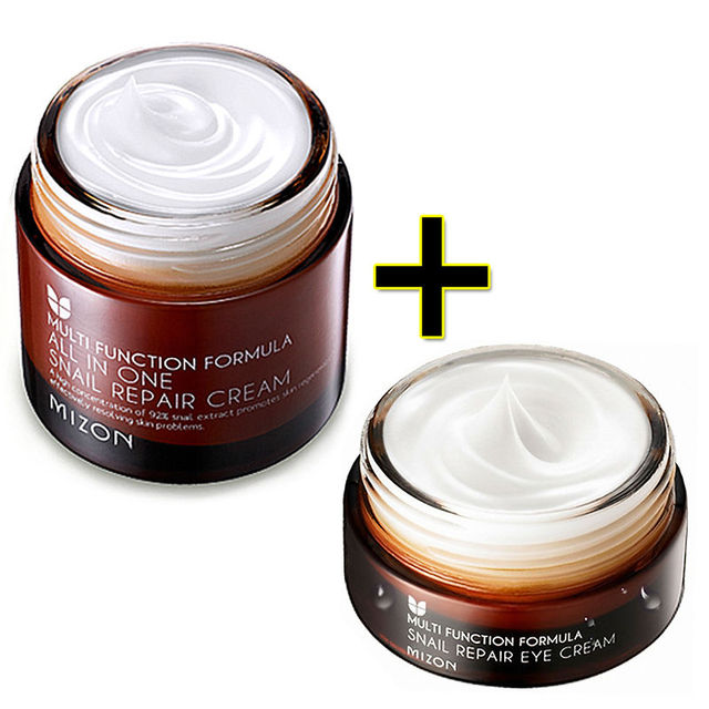 MIZON All In One Snail Repair Cream 75g + Snail Repair Eye Cream 25ml Facial Cream Face Skin Care Set Korean Cosmetics