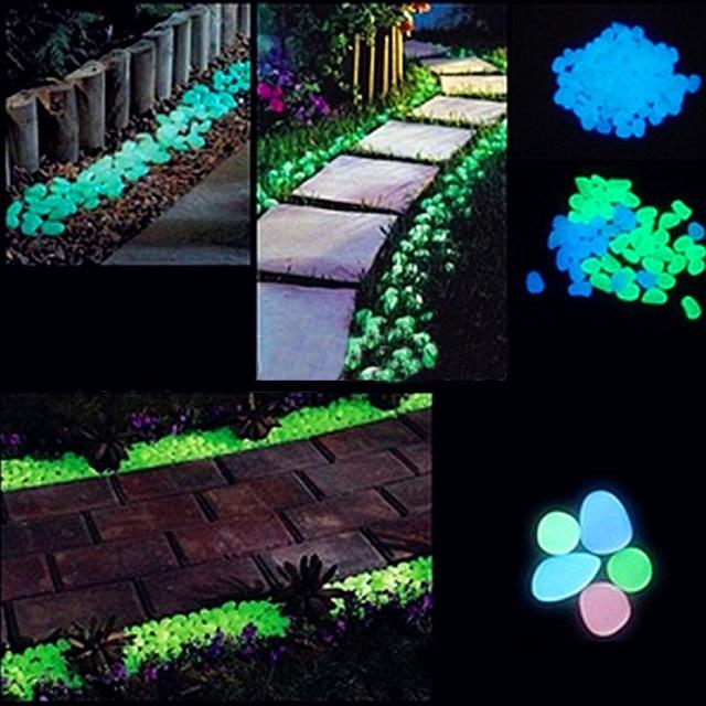 Cailloux lumineux pierres gravier lueur dans le noir pour Aquarium ...