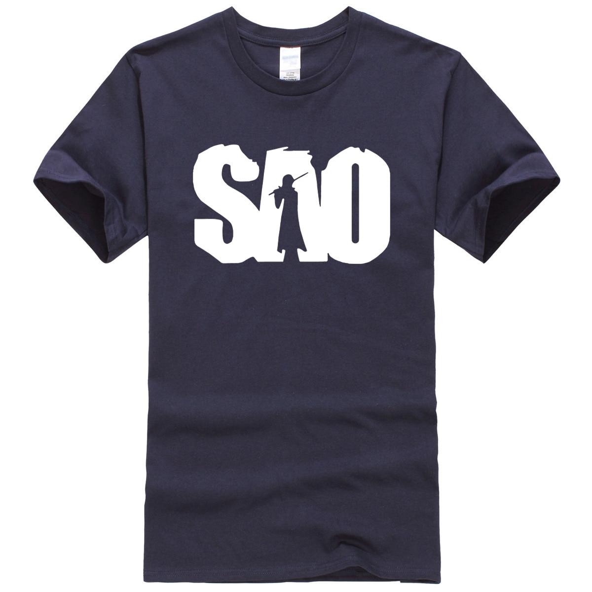 SAO anime printed summer 2019 men's T-shirts 100% cotton clothes fashion casual t shirt brand clothing jersey top kpop T-shirt