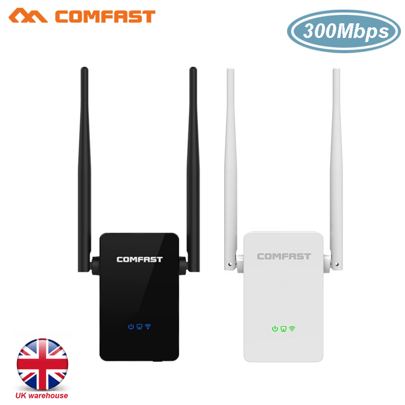 COMFAST 300Mbps WIFI Repeater Wireless Range Extender 802.11n/b/g Wifi Signal Amplifier Booster 5 Dbi Antennas Repetidor Wifi