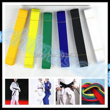 цена на hot 2.8M martial arts belt Karate Taekwondo Judo Jiu jitsu tae kwon do belt Karate Taekwondo tape