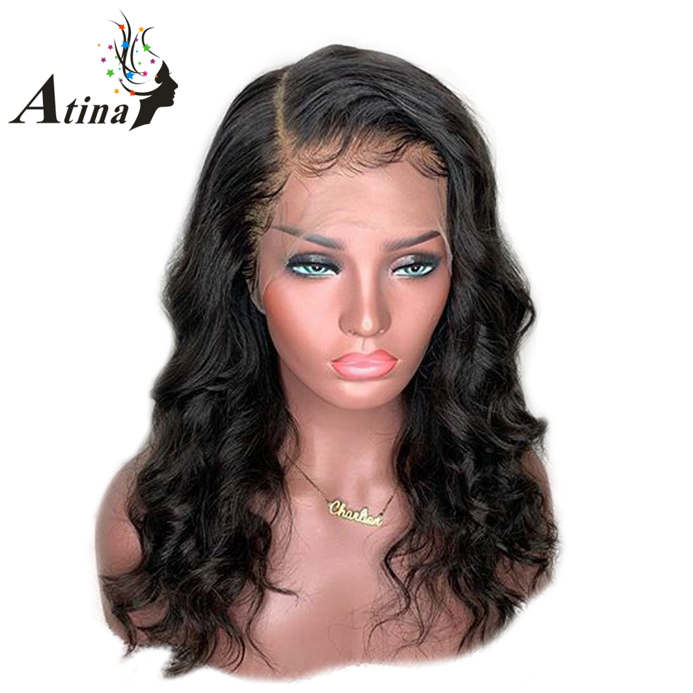 13 6 Deep Parting Glueless Lace Front Human Hair Wigs Wavy Preplucked Lace Wig Loose Wave