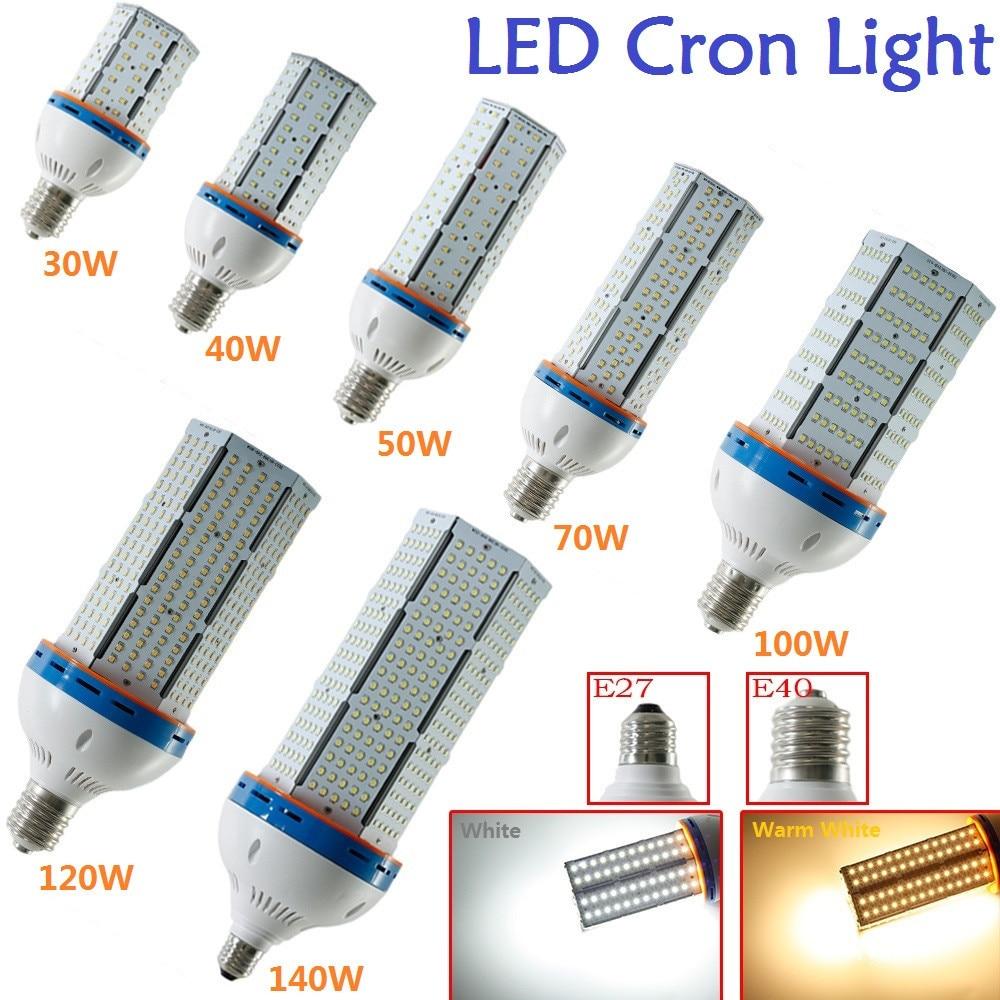 1X30 W 40 W 50 W 70 W 100 W 120 W 140 W E27/E40 2835SMD AC85-265V LED Cylindre Maïs Lumière Lampe Blanc/Blanc Chaud Ampoule de Maïs éclairage