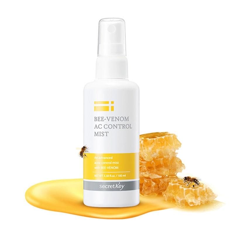 SECRET KEY Bee-Venom AC Control Mist 100ml Acne Treatment Toner Face Skin Care Soothing Moisturizing Nutrition Face Spray Mist эмульсия secret key starting treatment essence