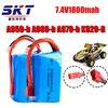 1pcs Li Polymer 2S Lipo Battery 7 4V 1800mah 20C Max 40C For Wltoys A959 B