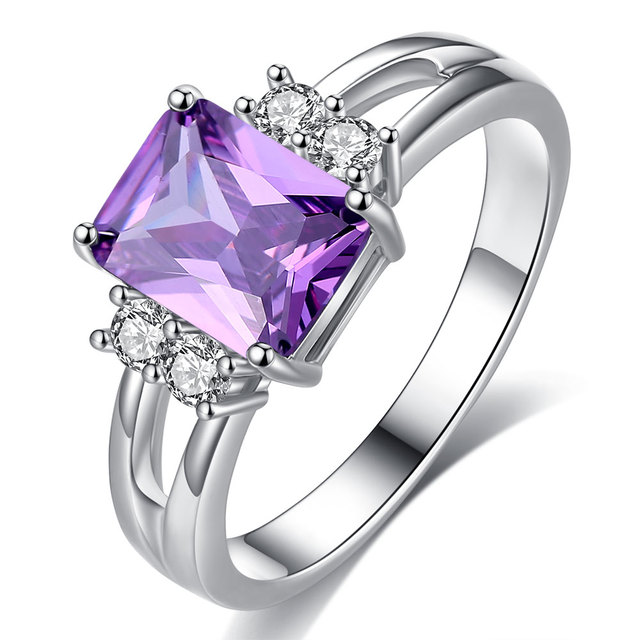 Exquisite Princess Cut Cubic Zirconia Fashion Ring 4