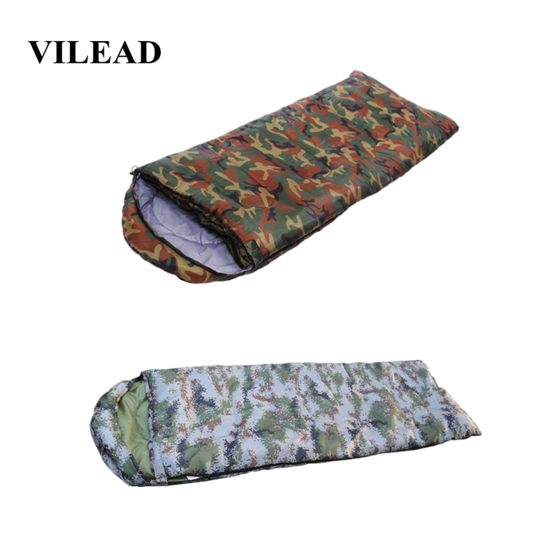 VILEAD Envelope type Ultralight Camo Sleeping Bag Portable Waterproof Summer Hiking Camping Stuff Adult Travel Quilt Lightweight-in Sleeping Bags from Sports & Entertainment