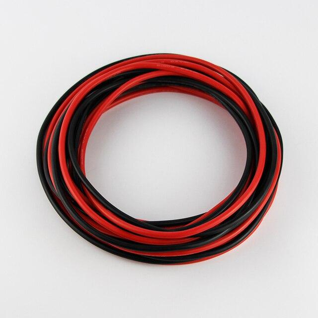 OliYin 5 meter Rot + 5 meter Schwarz 12 AWG Flexible Silikon Draht ...