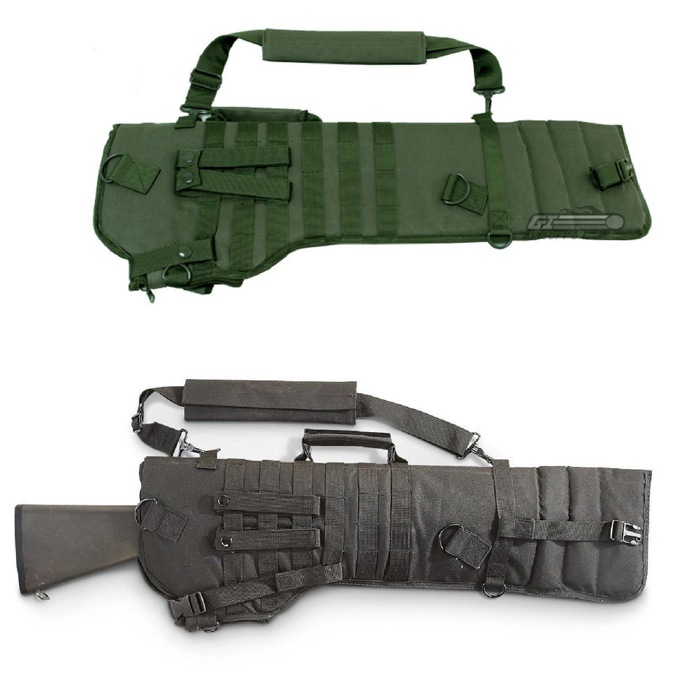 Gun Case Bag Holster Tactical for Rifle Scabbard Military Hunting Backpack for Guns Assault Shotgun Hunting Bag Gun Carrier Bag cs force tactical shotgun scabbard holster military army gun bags shell holder rifle case hunting backpack single shoulder molle