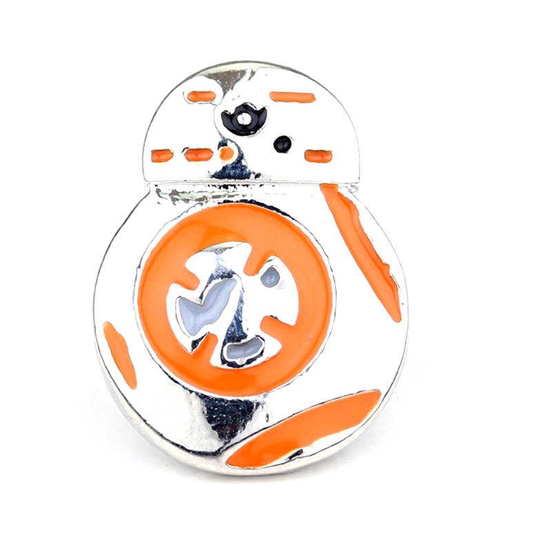 Dongsheng Movie Star Wars BB8 Revers Broche Pin Charm BB-8 Oranje Emaille Metalen Broches Fashion Breastpin Voor Vrouwen-40