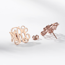 Custom Monogram Initial Stud Earrings silverv Personalized Name Fashion stainless steel Jewelry mujer moda