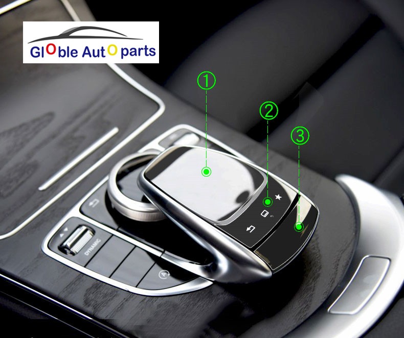 Car Styling Car Center Control Mouse Knob Protective Film Sticker For Mercedes Benz S/V/GLC/GLE/GLS C Class W205 E Class W213 car center console dashboard speaker cover protection cover trim for mercedes benz c class w205 c180 c200 c260 glc class x253