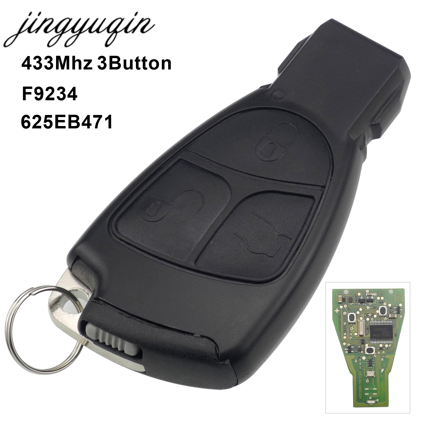 jingyuqin 433Mhz 3 Buttons Remote Key Fob For Mercedes Benz B C E ML S CLK CL 3B 3BT Complte Control circuit Board new 8 for samsung galaxy tab a p350 lcd display with touch screen digitizer sensors full assembly panel lcd combo replacement