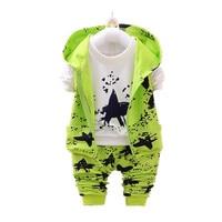 Spring Autumn Baby Girls Boys Minion Suits Infant Newborn Clothes Sets Kids Vest T Shirt Pant