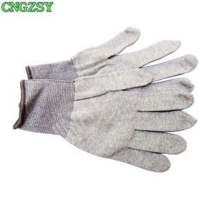 Image 2 - 5 pairs static free wearable tight working carbon fiber nylon gloves car wrap window tints auxiliary tools knitted gloves 5D08