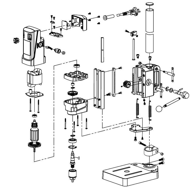 máquina de perfuração do banco da imprensa