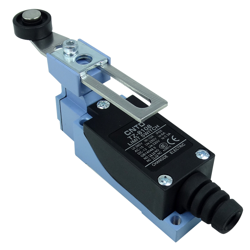 Limit Switch  Rotary Adjustable Roller Lever Arm Mini Limit Switch TZ-8108   CNTD limit safety fixing ring position limit ring manual position limit