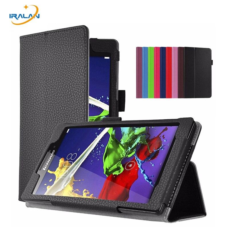 Litchi Stand Protective Folio Case For Lenovo Tab 3 8 TB3 850F TB3 850M TB3 850X