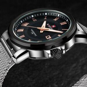 Image 5 - Naviforce Для мужчин кварцевые часы Элитный бренд Повседневное Для мужчин спортивные наручные часы Нержавеющаясталь группа Водонепроницаемый мужской Relogio Masculino
