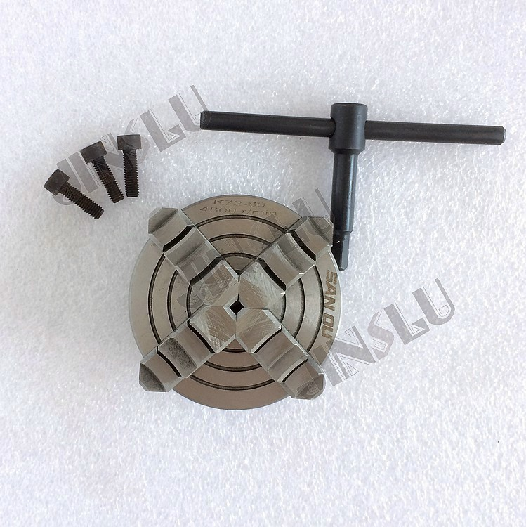 Free shipping K72-80 4 jaws lathe chuck welding positioner chuck цена