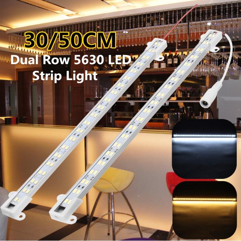 Smuxi 30/50CM Dual Row Strip Light 5630 SMD LED Aluminum Strip Light Hard Bar U Shape Bar Light LED Rigid Strip DC 12V