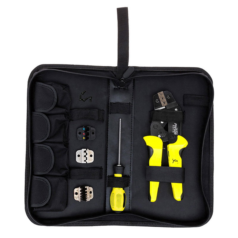 New JX-D4 Multifunctional Ratchet Crimping Tool 26-10 AWG Terminals Pliers Kit P20 new jx d4301 multifunctional ratchet crimping tool wire strippers terminals pliers kit