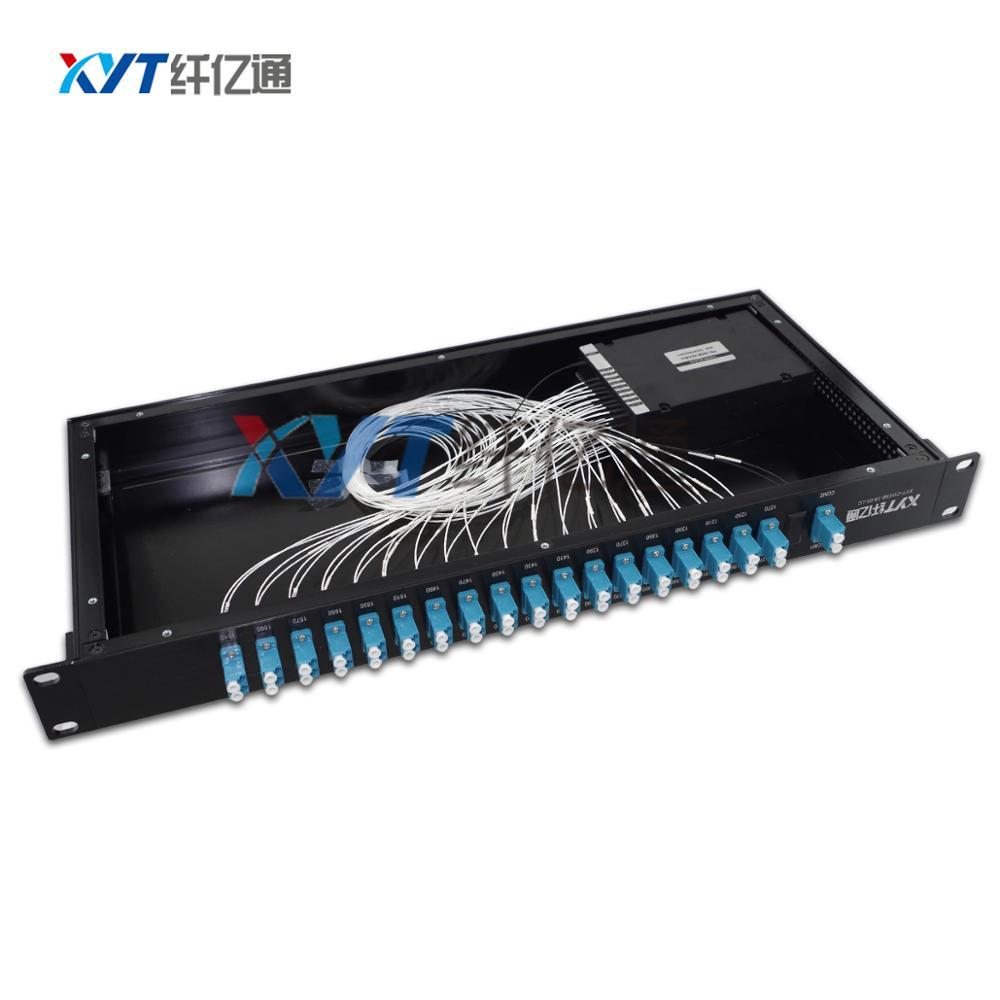 SC / APC bağlayıcı 2.0MM 1M tək lifli 18 kanallı CWDM MUX MEMUX - Rabitə avadanlıqları
