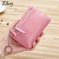 New 2017 Ladies Mini Coin Purses Genuine Leather Women Wallet Litchi Pattern Sweet Brief Style Wallet