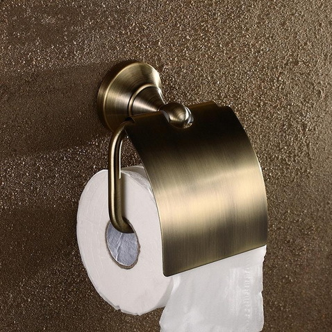 Solid Copper Antique Brass Toilet Paper Holder Ring