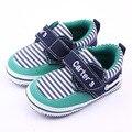 Clássico Listrado Meninos Da Criança Do Bebê Calçados Casuais Das Sapatilhas Moda Newborn Carters Crianças Suave Sola de Algodão Acolchoado Primeiros Caminhantes